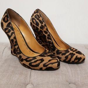 Nine West Leopard Wedge